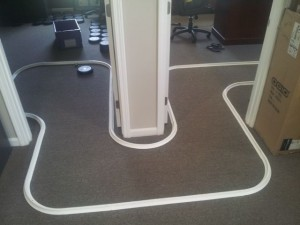 Creating office golf holes
