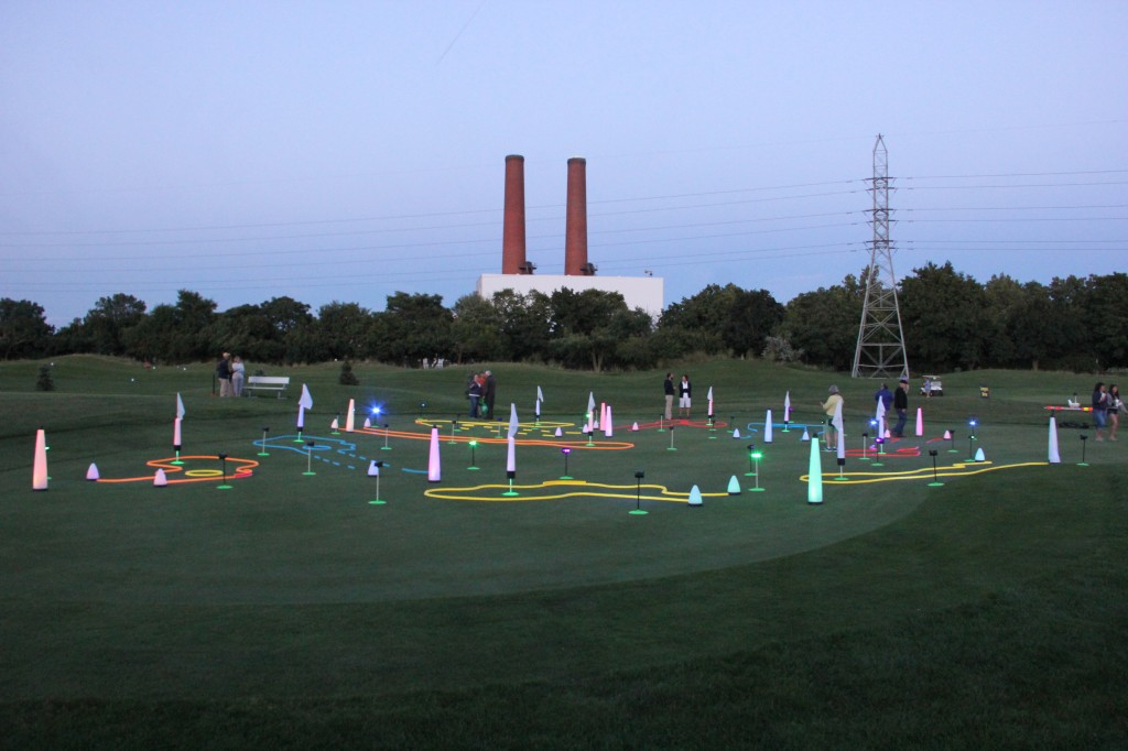 night golf putting