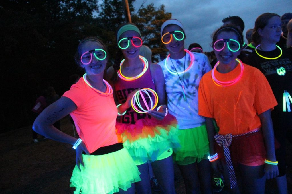color and neon run photos