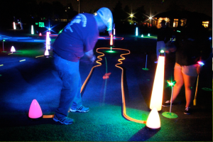 putting track for night golf