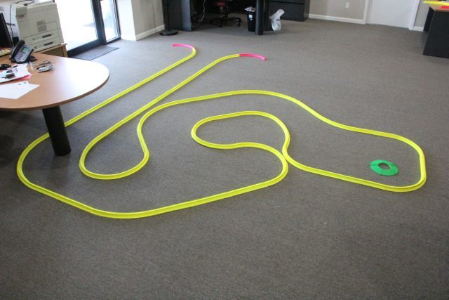 glow putting track for office golf games