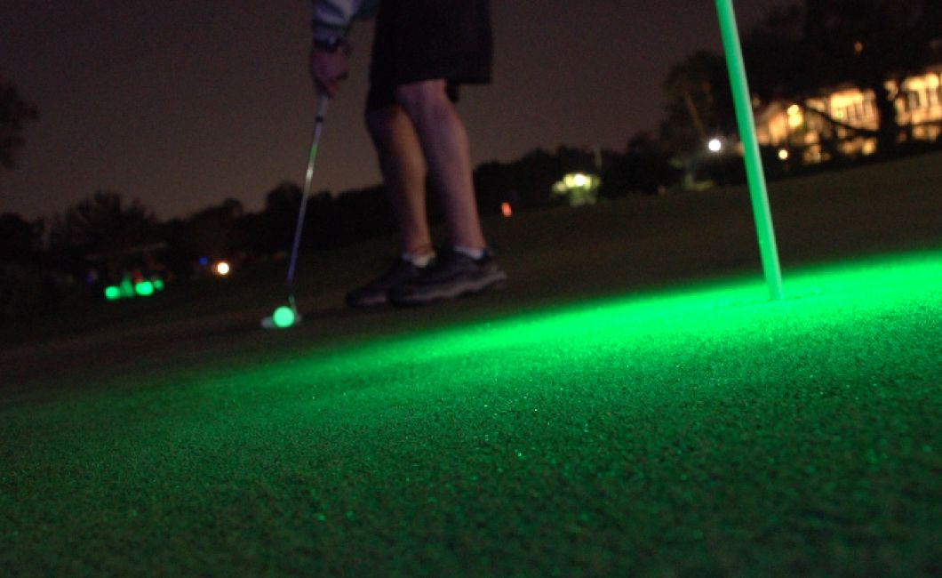 Glow in the dark putting