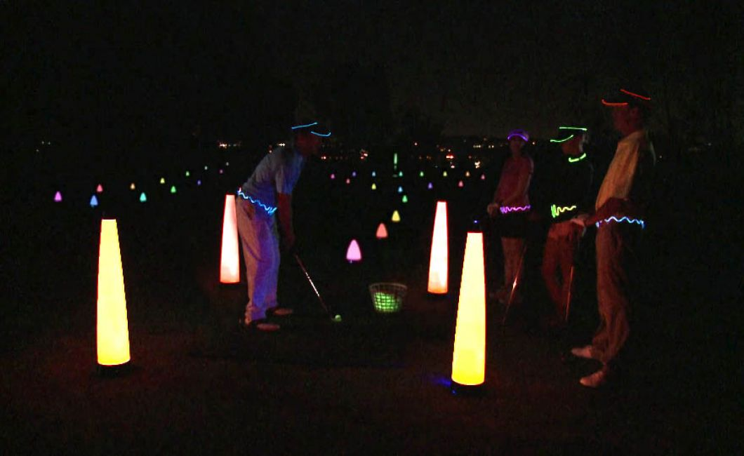 Glow-Golf course large mast